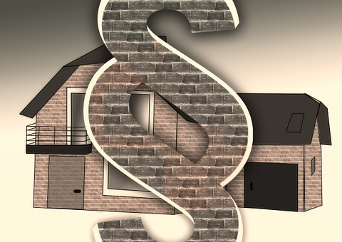 dollar sign and a house