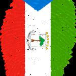 finger print on flag colors